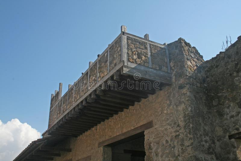 Balcón de Pompeya foto de archivo