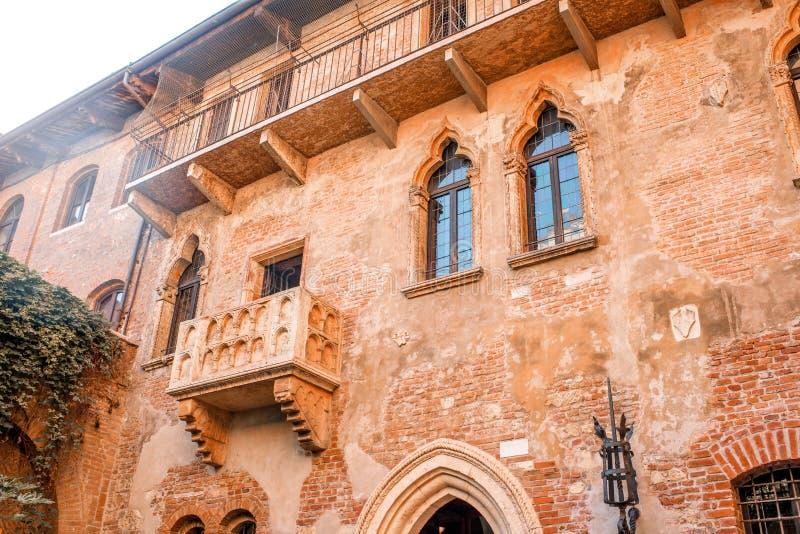 Balcón de Romeo y de Juliet en Verona foto de archivo libre de regalías