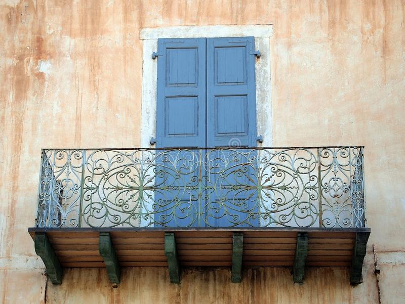 Balcón del cordón del hierro fotografía de archivo