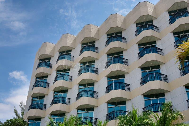 Balcón del hotel fotos de archivo