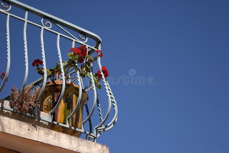 Balcón en el Sun imagen de archivo