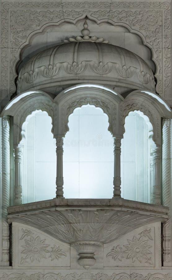 Balcón en estilo Indo-islámico tradicional foto de archivo