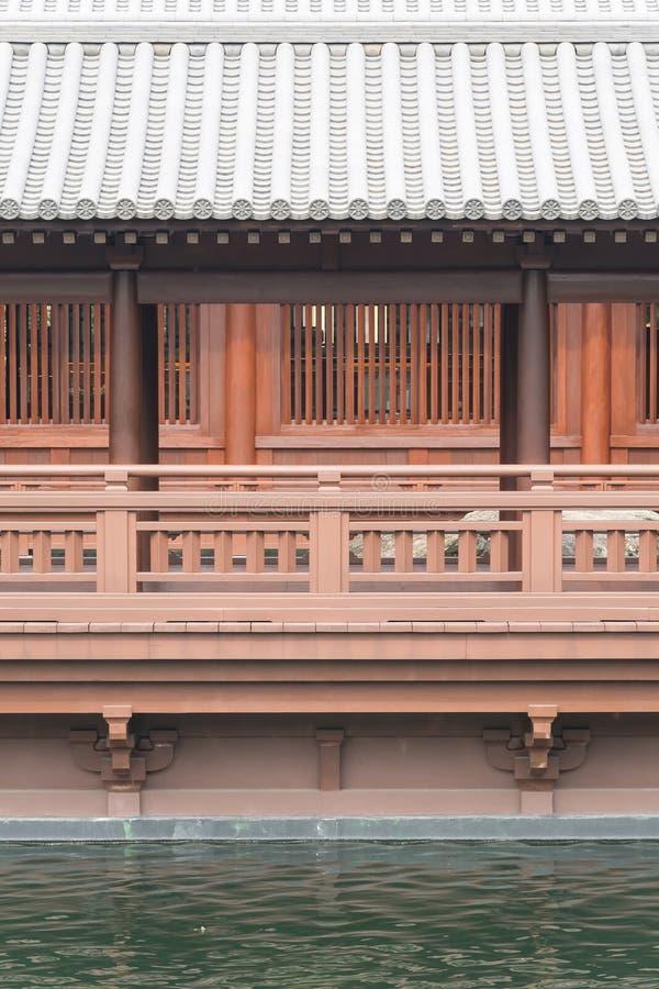 Balcón en estilo japonés imagenes de archivo