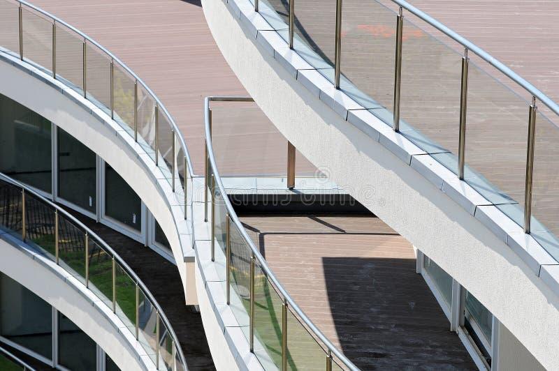 Balcón moderno del apartamento fotos de archivo