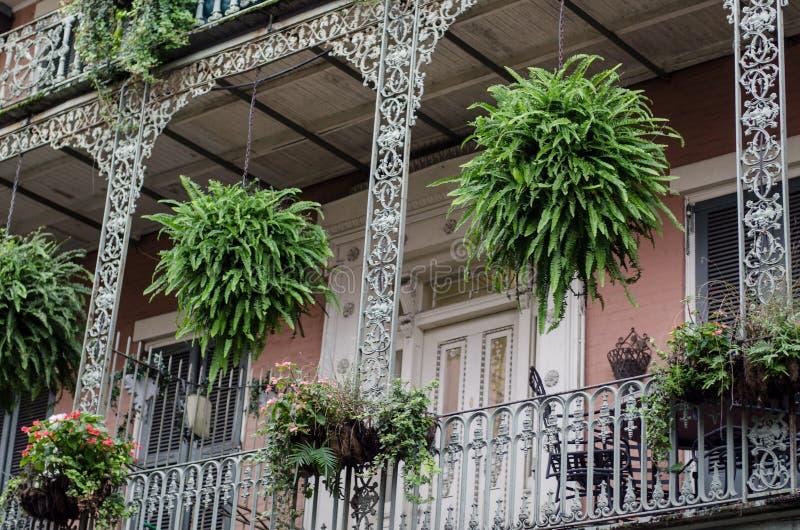 Balcón, New Orleans fotos de archivo