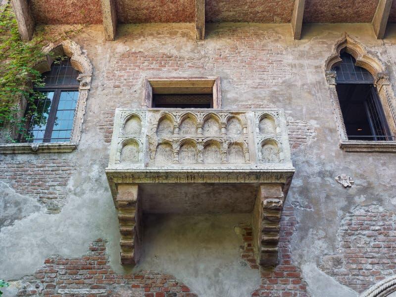 Balcón Verona Italy de Romeo y de Juliet imagenes de archivo