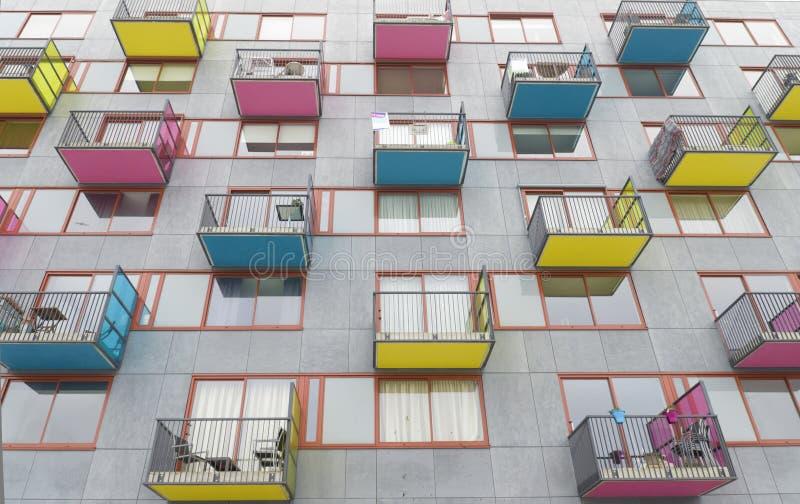 Balcões coloridos imagem de stock
