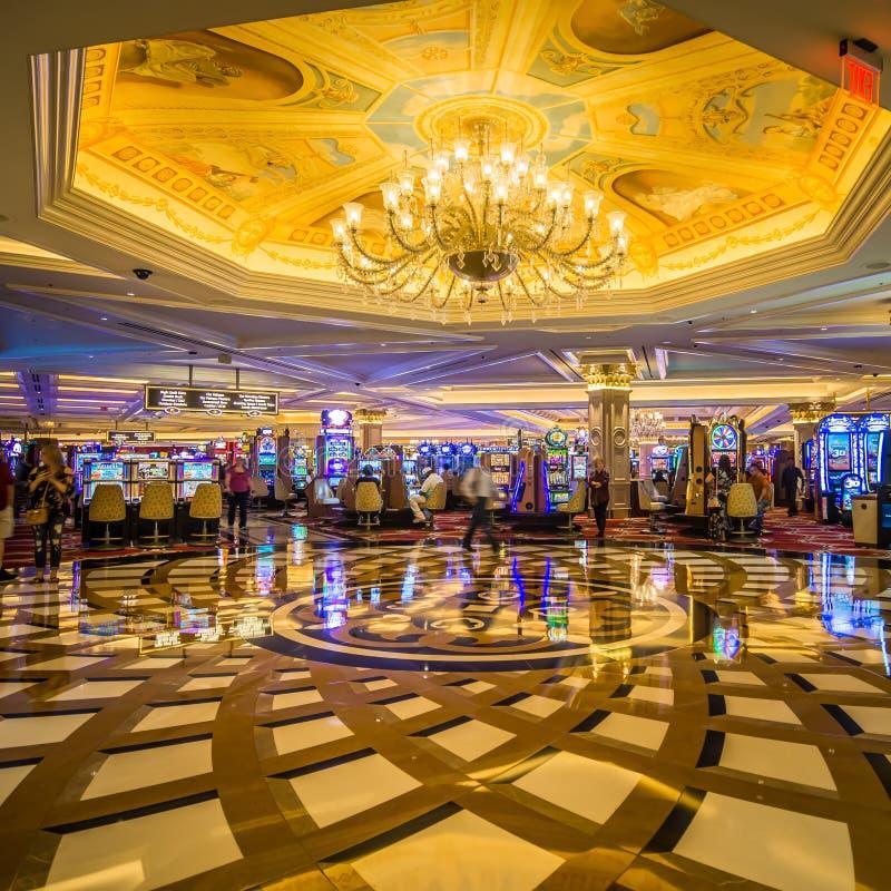 Balc?o luxuoso extravagante da entrada em Las Vegas venetian imagens de stock