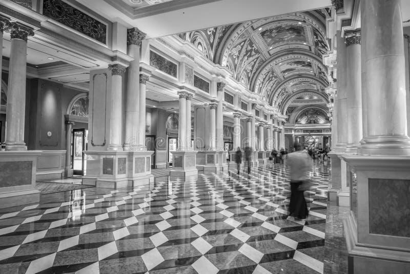Balc?o luxuoso extravagante da entrada em Las Vegas venetian fotos de stock royalty free