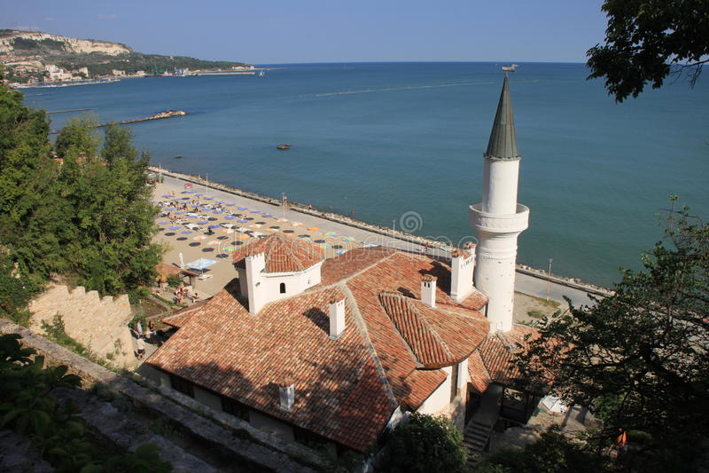 balchik城堡 免版税库存图片