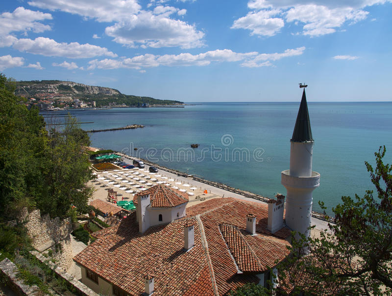 Balchik. Black Sea coastal town in northern Bulgaria. The  Palace was the summer residence of Queen Marie of Romania royalty free stock photo
