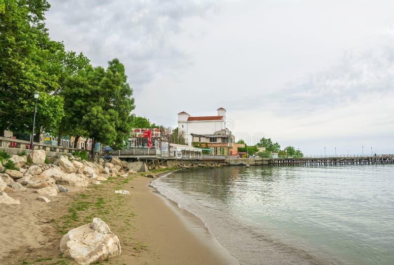 Balchik badort i Bulgarien arkivfoto