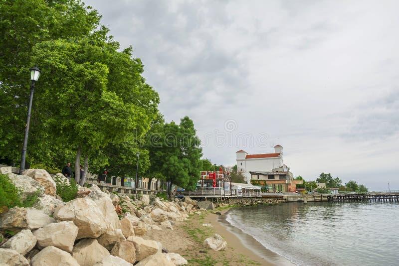 Balchik badort i Bulgarien royaltyfri bild
