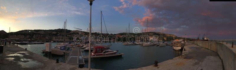 Balchik. Marina sunset stock photos