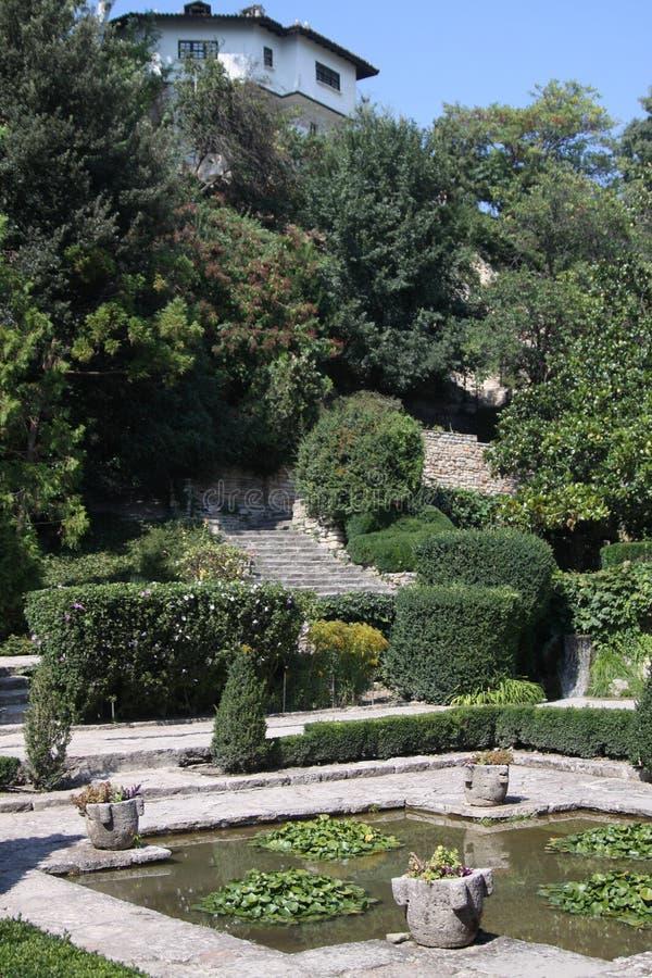 Balchik botanischer Garten stockbilder