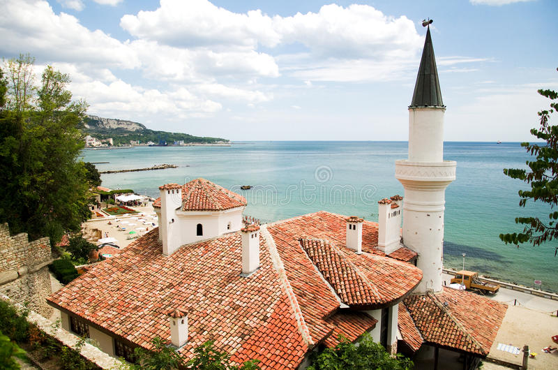 Balchik, Bulgaria. The Balchik Palace located in the Bulgarian Black Sea town of Balchik. Known as the the Quiet Nest Palace, it was constructed between 1926 and royalty free stock photo