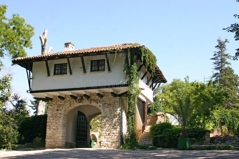 Balchik, Bulgaria. Entrance to the Balchik Palace located in the Bulgarian Black Sea town of Balchik royalty free stock image