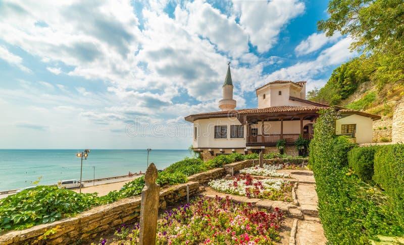Balchik Castle at Bulgarian Black Sea coast royalty free stock photos