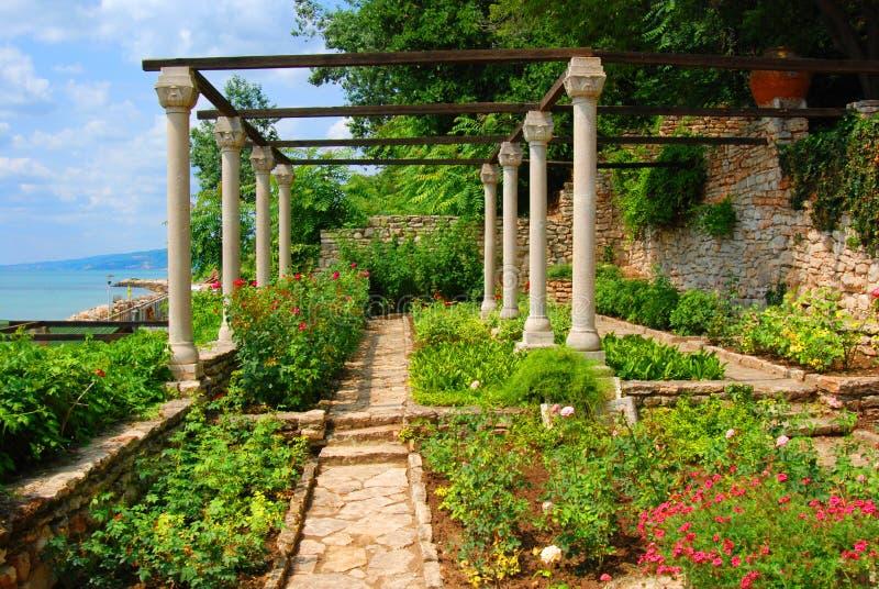 Balchik Gärten stockfotografie