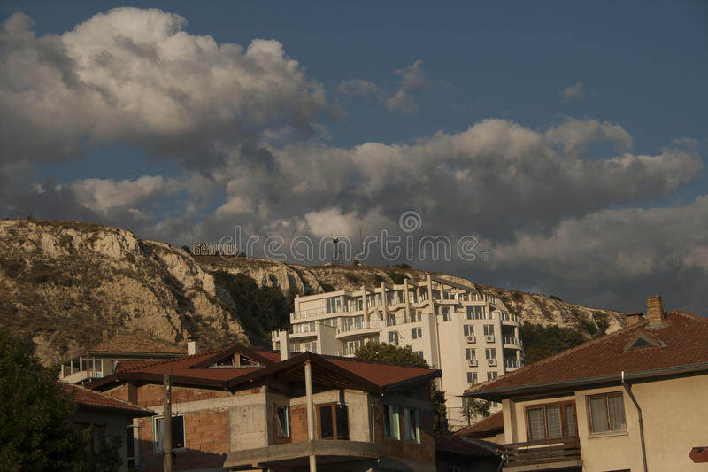 Balchik-Hügel stockbild