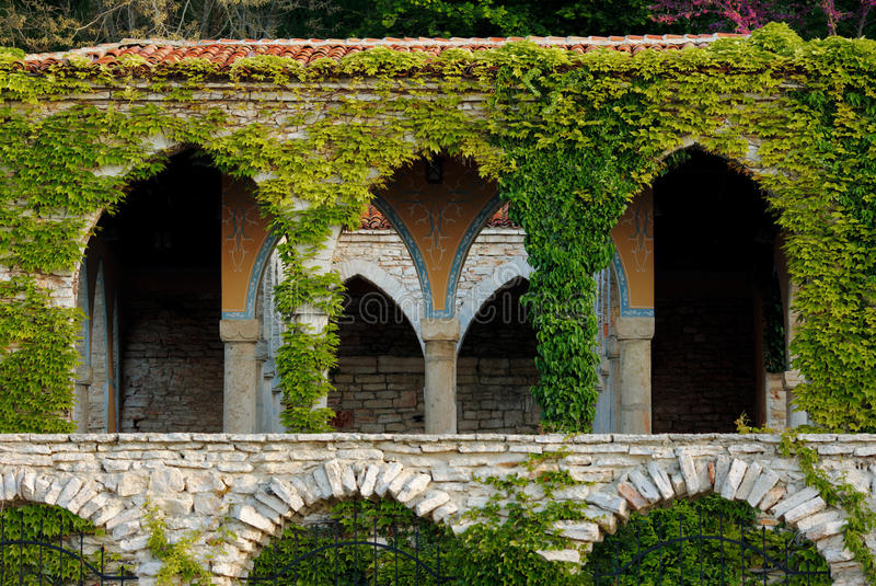 Balchik, il bagno romano fotografia stock libera da diritti