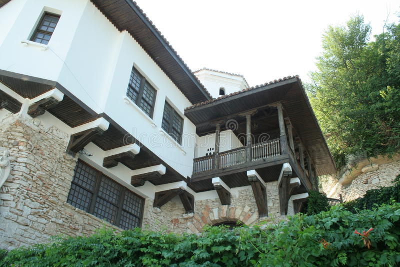 Balchik Palace. Balchik - Romanian Queen Castle in Bulgaria overlooking the Black sea nearby stock photos