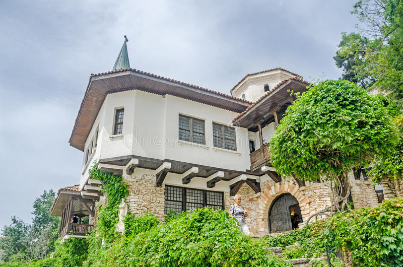 The Balchik Palace (Castle) of romanian queen Marie stock image