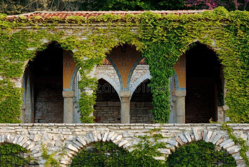 Balchik, the Roman bath. Roman bath in the yard of Balchik palace royalty free stock photography