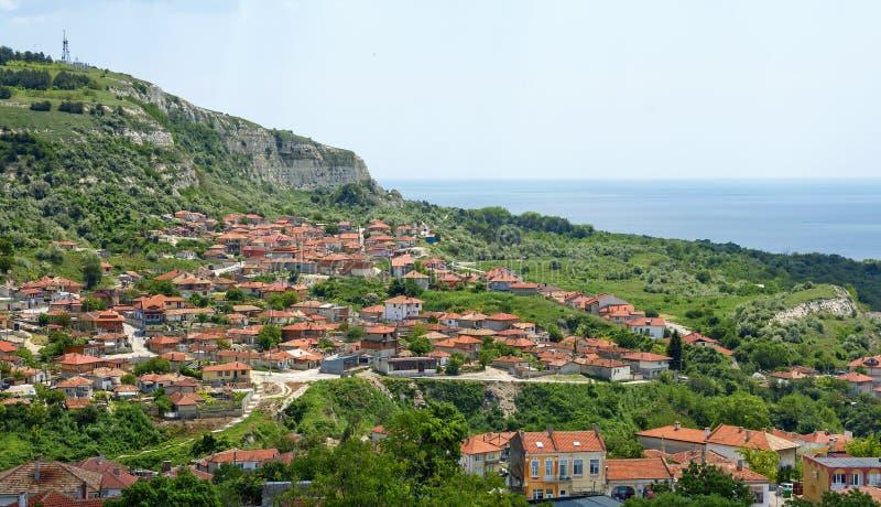 Balchik view, famous seaside resort , Bulgaria. Balchik view, small town on the Black Sea coast and famous seaside resort , Bulgaria stock image