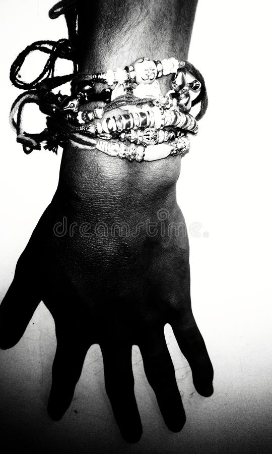 Balck在手指的&white汇集 免版税图库摄影