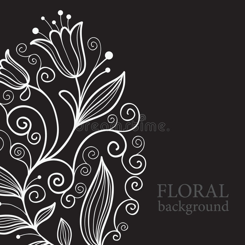 Download Balck floral background stock vector. Image of decorative - 13685733
