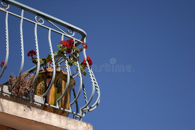 Balcon au soleil image stock