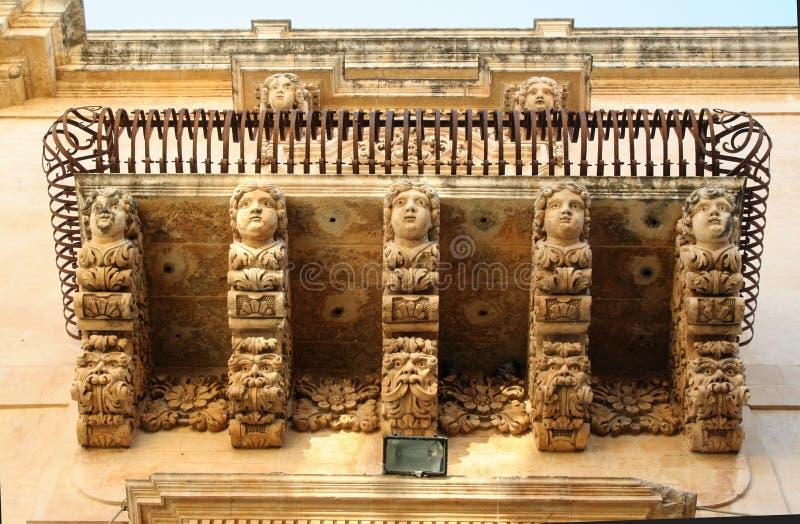 Balcon baroque image stock