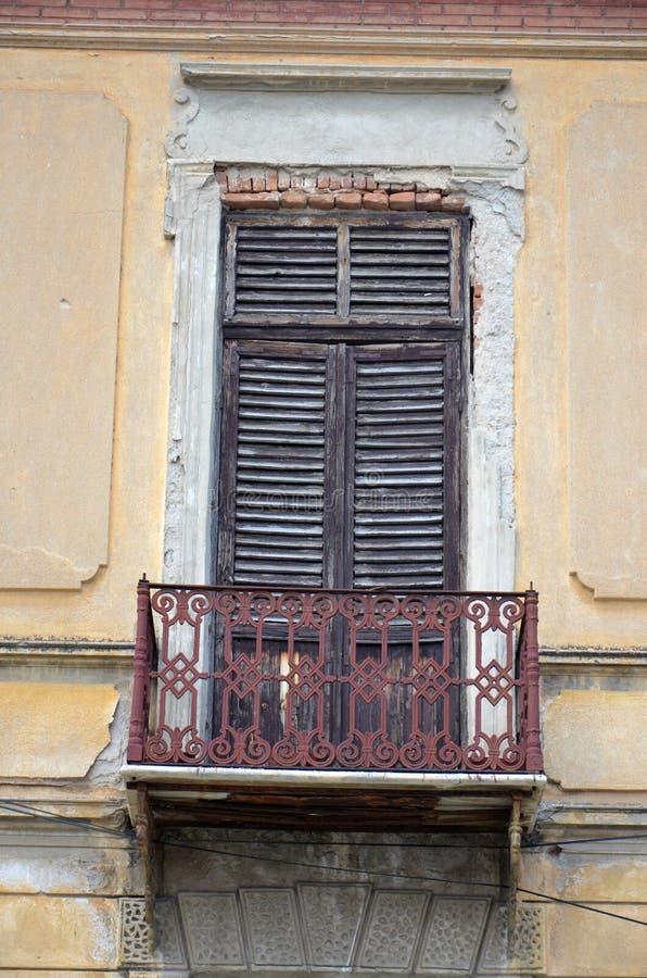 Balcon dans le bitola, Macédoine photos stock