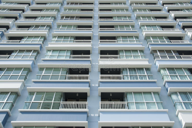Balcon de bâtiment. photo libre de droits
