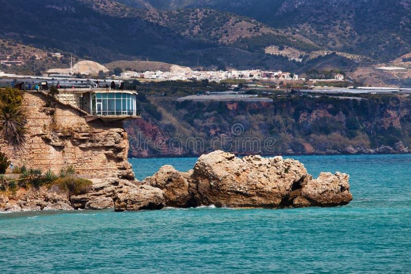 Balcon de Europa en Nerja en Costa del Sol foto de archivo libre de regalías