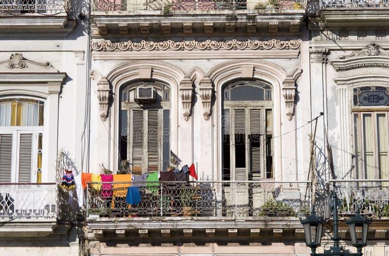 Balcon de La Havane, Cuba photographie stock