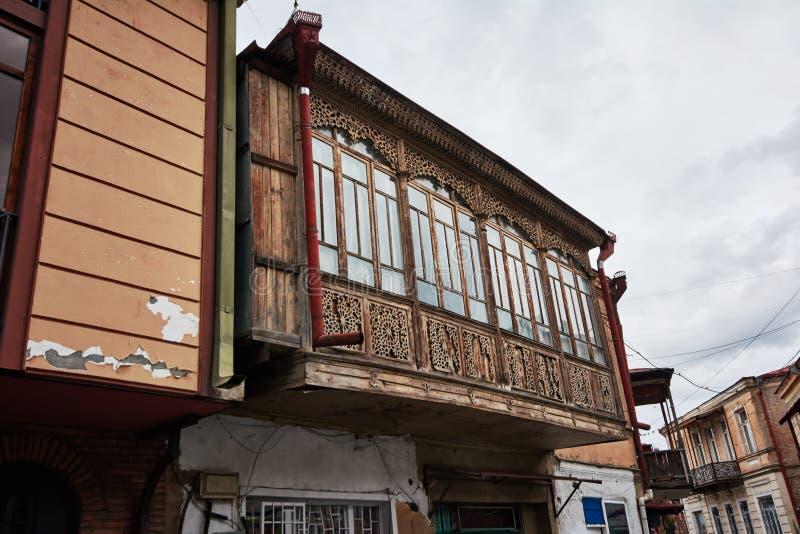 Balcon en bois de image libre de droits