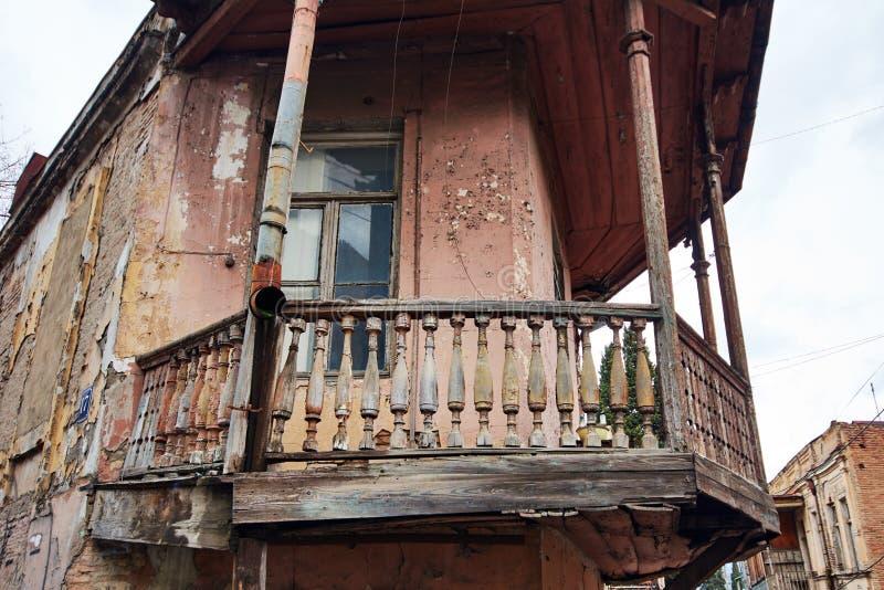 Balcon en bois de images libres de droits