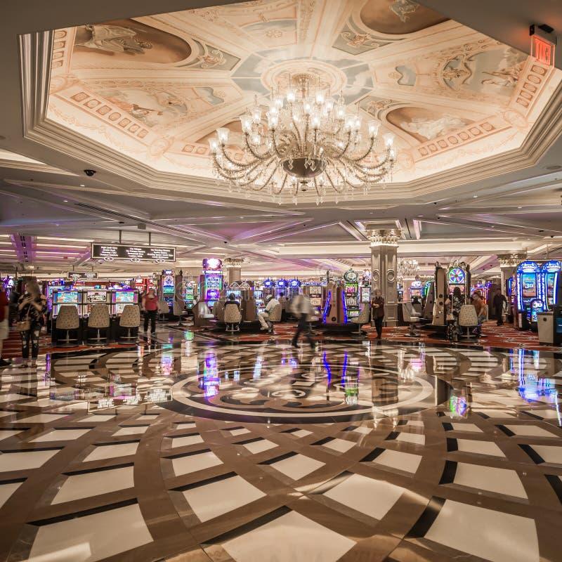 Balcon luxueux de fantaisie de lobby à Las Vegas vénitienne photos stock