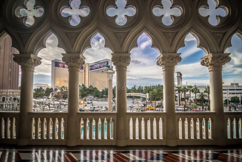 Balcon luxueux de fantaisie de lobby ? Las Vegas v?nitienne images stock