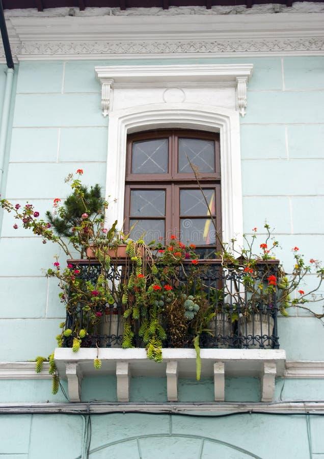 Balcon Quito Equateur d'hublot photo libre de droits