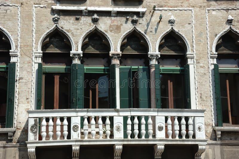 Balcon vénitien photo stock