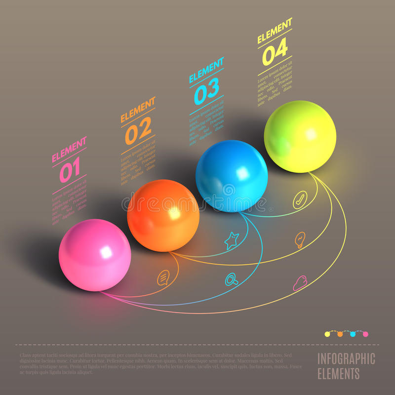 Balconcept de bedrijfs van Infographics vector illustratie