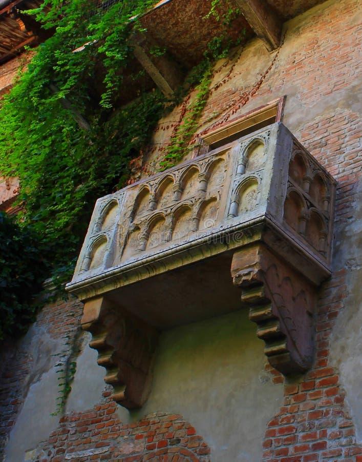 Balcone del Juliet a Verona immagine stock