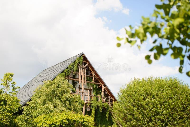 Balcone di legno immagine stock libera da diritti