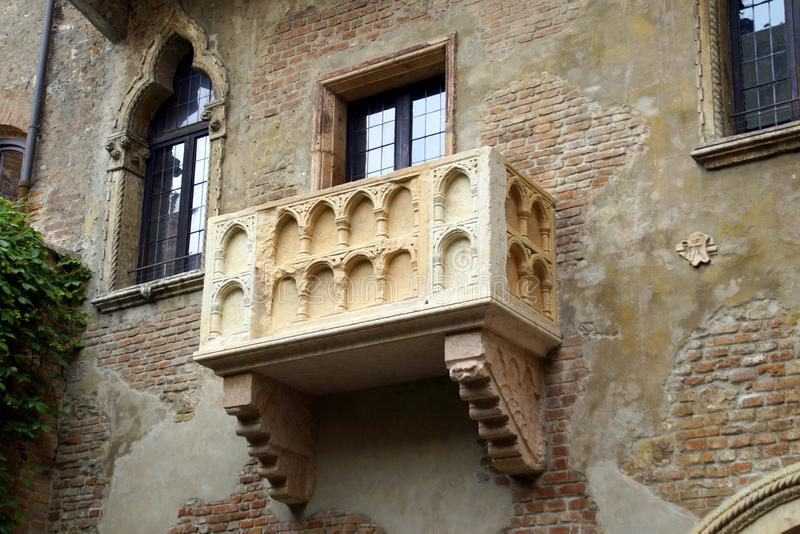 Balcone di Romeo e di Juliet fotografia stock libera da diritti