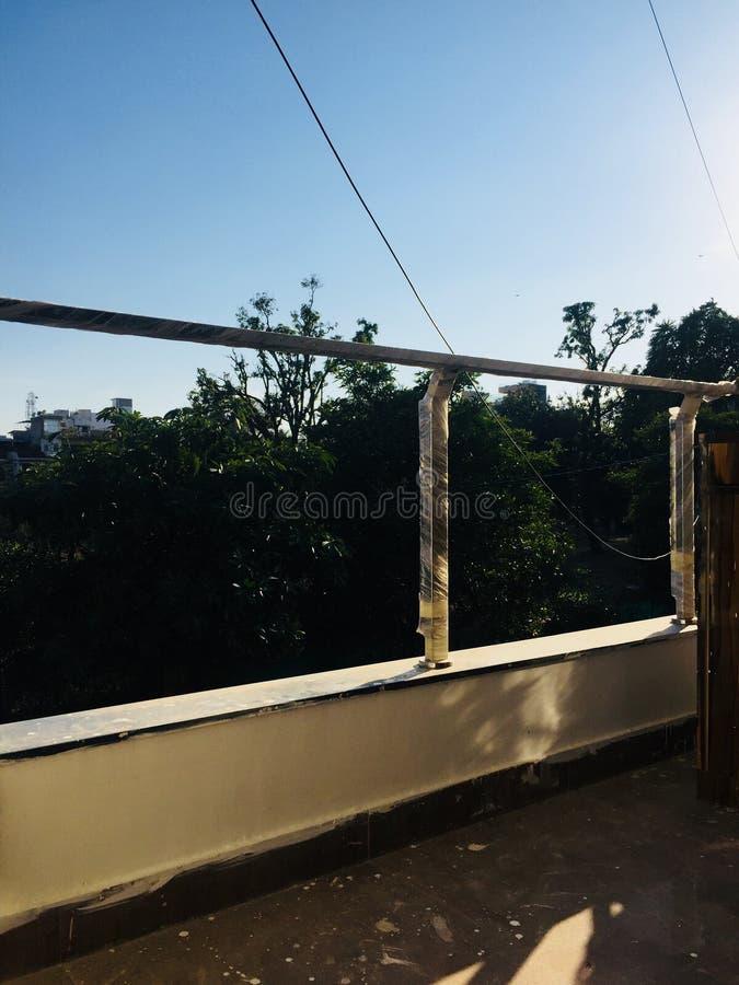 Balcone domestico indiano fotografia stock