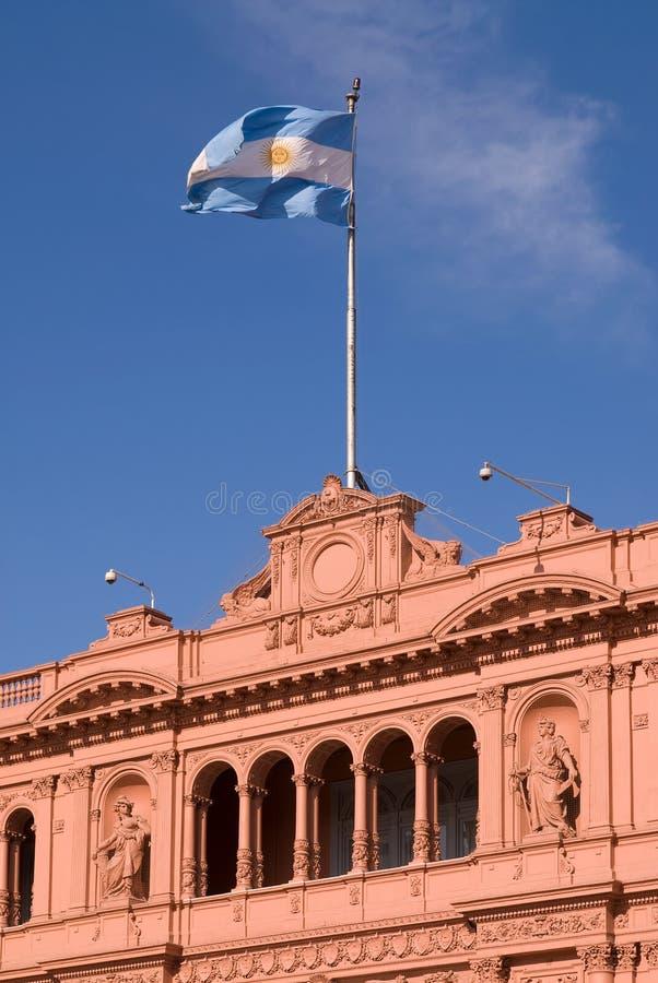 Balcone famoso in case Rosada in cui Evita comunica fotografie stock
