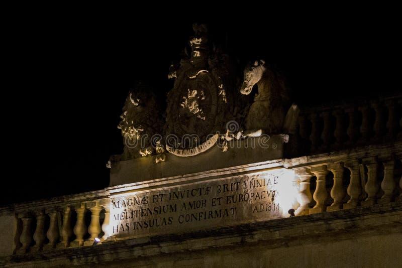 Balcone a La Valletta fotografia stock libera da diritti